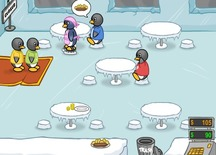Restaurant-game-with-the-ice-penguins